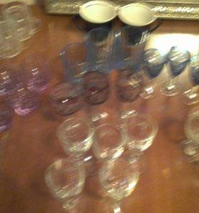 Рюмки стаканы кружки