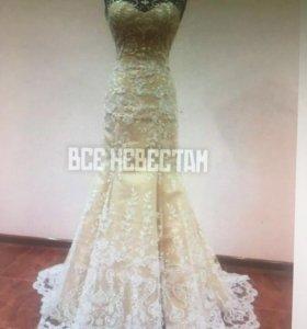 Свадебное кружевное платье