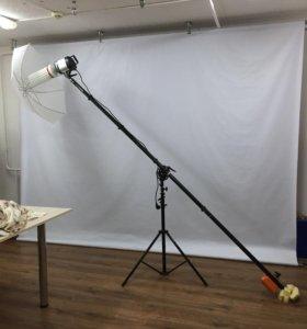 Журавль для фотосъёмок с лампой