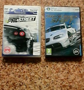 2 диска гонки NEED for Speed, need for speed SHIFT