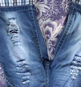 Шорты,бриджи джинсовые 104р.