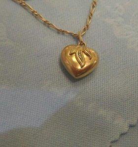 Кулон с бриллиантом 585 проба