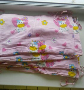 Бортики и балдахин на детскую кроватку
