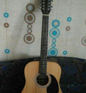 12 струнная электроаккустическая гитара RockDale