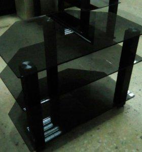 Стол стекянный под ТВ угловой