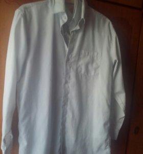 Рубашки мальч. белые