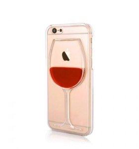 Чехол бокал вина на IPhone 6/6s