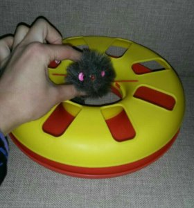 """Игрушка для кошек """"колесо с мышкой"""""""