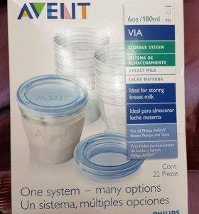 Контейнеры для хранения молока Авент