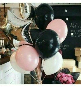 Воздушные шарики с гелием под потолок