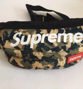 Поясная сумка Supreme хаки 2
