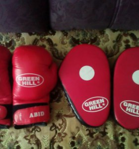 Боксёрские перчатки и лапы Green Hill