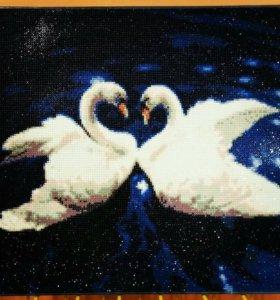 Жемчужные лебеди 40*50