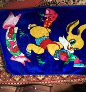 Плет дет 1000 руб,два одеяло дет для кроватки