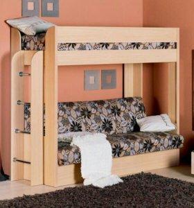 Двухярусная кровать-диван