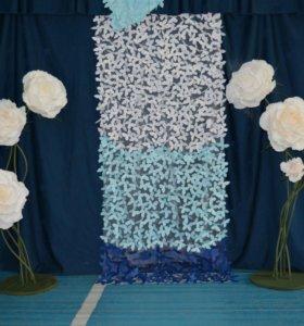 Оформление торжества. Бумажный и текстильный декор.