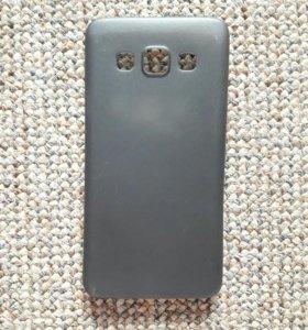 Матовый черный чехол на Samsung Galaxy A3