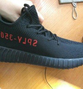 Adidas Yeezy Boost 350 V2 Black Red (Брэды)