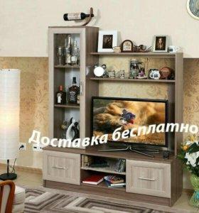 Новая стенка под ТВ
