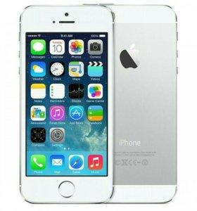 iPhone 5 64Gb silver + стекло + чехол
