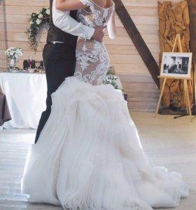 Шикарное дизайнерское свадебное платье