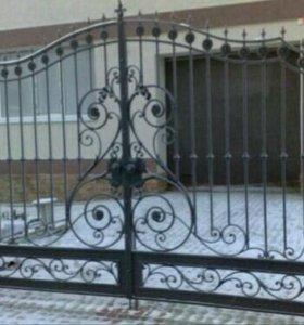 Ворота, ковка .
