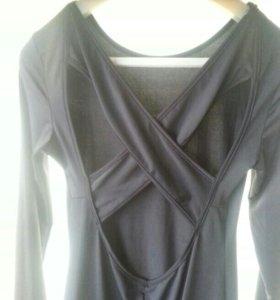платье черное в пол размер м растягивается