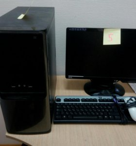 Компьютер и монитор Intel G3240-DDR3 4Gb-250 GB