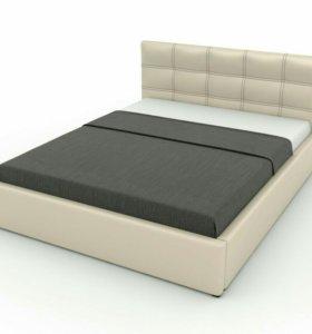 Кровать Двуспальная с матрасом.
