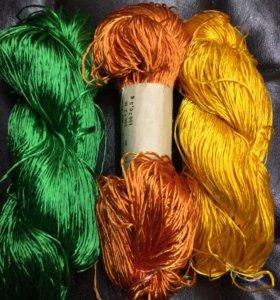 Шёлк для вязания/валяния/прядения/пряжа