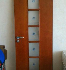 Двери межкомнатные, 4 шт (дерево массив, б/у)