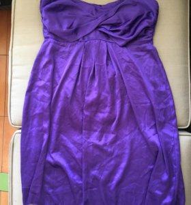 Платье-бюстье из атласной ткани