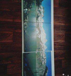"""Новая модульная картина """"озеро"""". Красота!"""