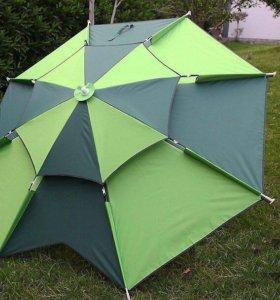Зонт пляжный раскладной с измен. наклона в чехле