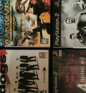 Диски с играми к Sony Playstation2, 20 штук