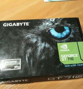 Видеокарта GIGABYTE GeForce GT 710 1GB 64 bit.
