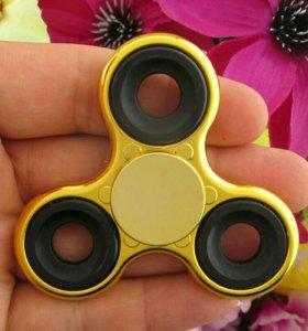 🌼Спиннер металлизированный жёлтый