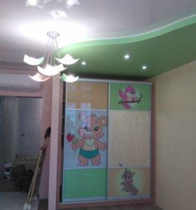Натяжные потолки и ремонт не дорого без предоплаты