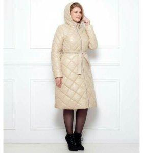 Новое утепленное пальто