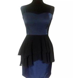 Синее платье H&M размер S