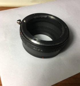 Переходник с Fujifilm на Nikon