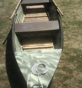 Лодка из фанеры обклееная тканью с эпоксидной смол