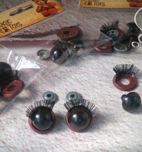 Глазки с фиксатором для игрушек