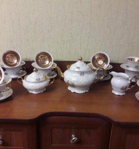 Фарфоровый чайный сервиз,12 пер.,Walbrzych/Wawel