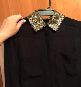 Рубашка с пайетками