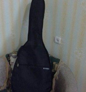Гитара шестиструнная акустическая концертная+чехол