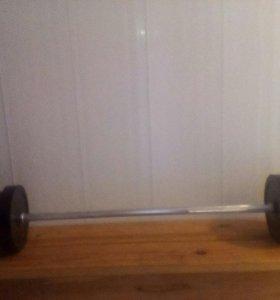 Штанга новая разборная 46 кг.