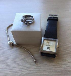 Украшения pandora (браслет, часы и кольцо)