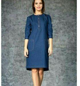 Джинсовое новое платье
