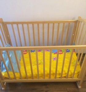 Продам детскую кроватку Гандылян